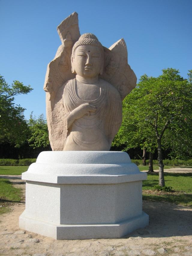 Standing Stone Buddha image at Gyeonju National Museum
